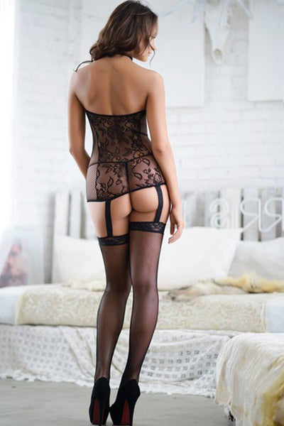 Ladies  lace body-stocking
