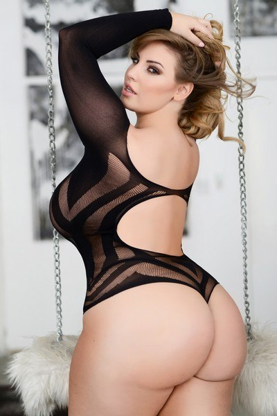 Ladies plus size versatile two-way body-stocking