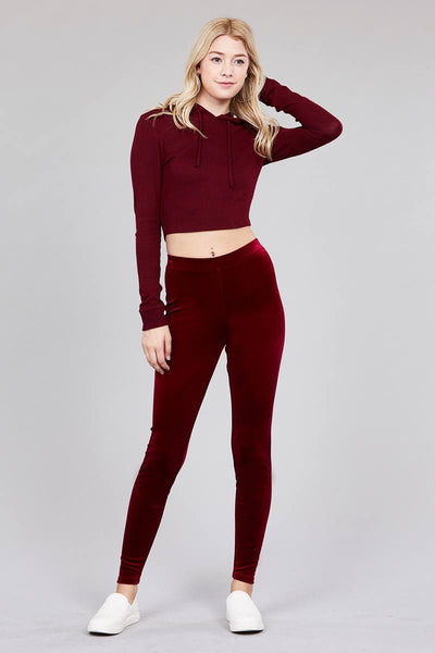 Ladies fashion velvet leggings