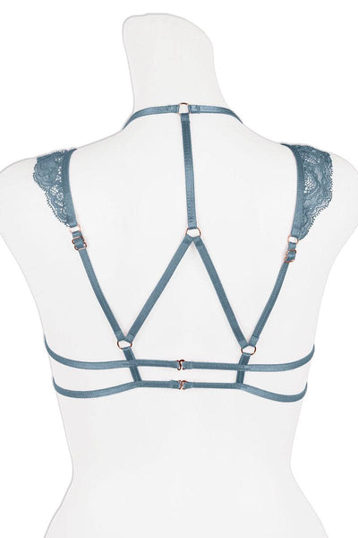 Ladies fashion halter cageback style triangle bralette