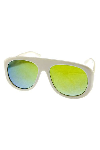 Womens 90s inspired plastic aviator fashion retro sunglasses