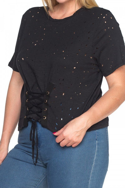 Waist Lace Up Shirts