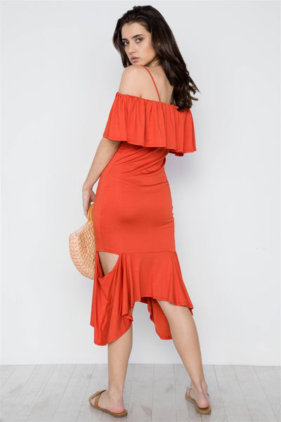 Cami Flounce Cut Out Dress