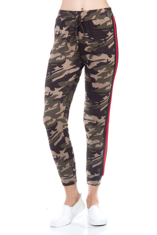 Camo Side Stripe Taping Pants