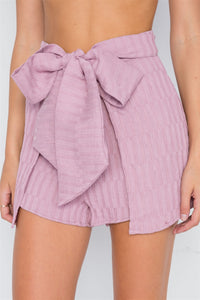 Dusty Pink Self Tie Front Skort