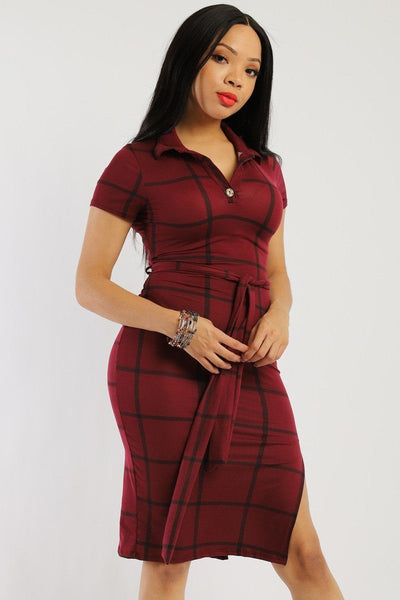 Plaid, Midi Tee Dress