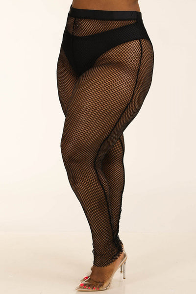 Panty Lined Mesh Leggings