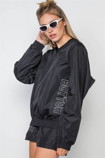 Windbreaker Graphic Jacket Short Set