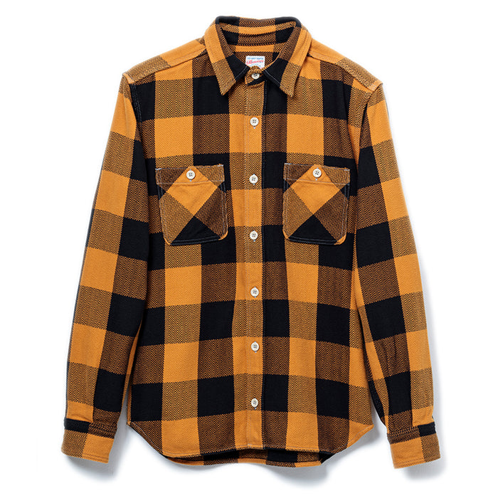 Herringbone Check Shirt Mustard