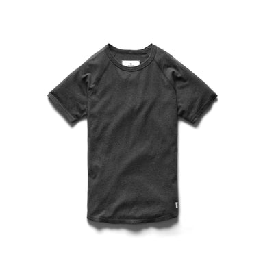 Cotton Jersey Raglan Tee – H.Charcoal