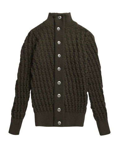Stark Cardigan Deep Bronze Green