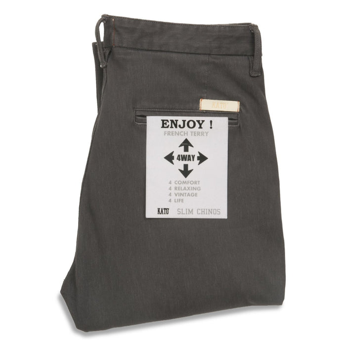 French Terry Slim Chino – Charcoal