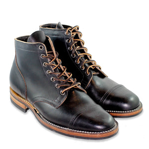 Viberg - Service Boot Black CXL - Straight Toe Cap