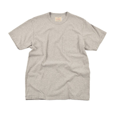 Heavy Duty Tee Single Pocket Heather Grey