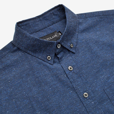 Navy Flecked S/S Shirt
