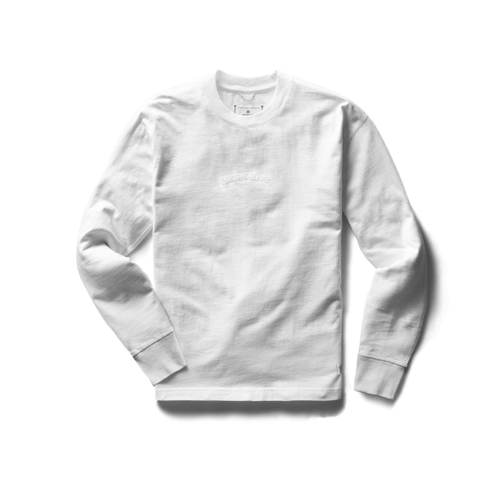 Knit mid Weight Jersey Embroidered T-shirt White