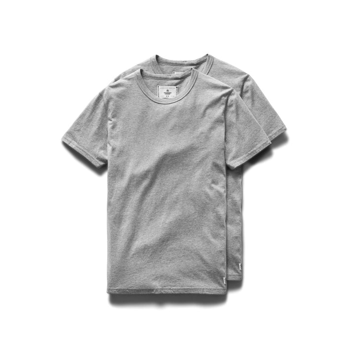 Cotton Jersey 2 Pack Tee – H. Grey