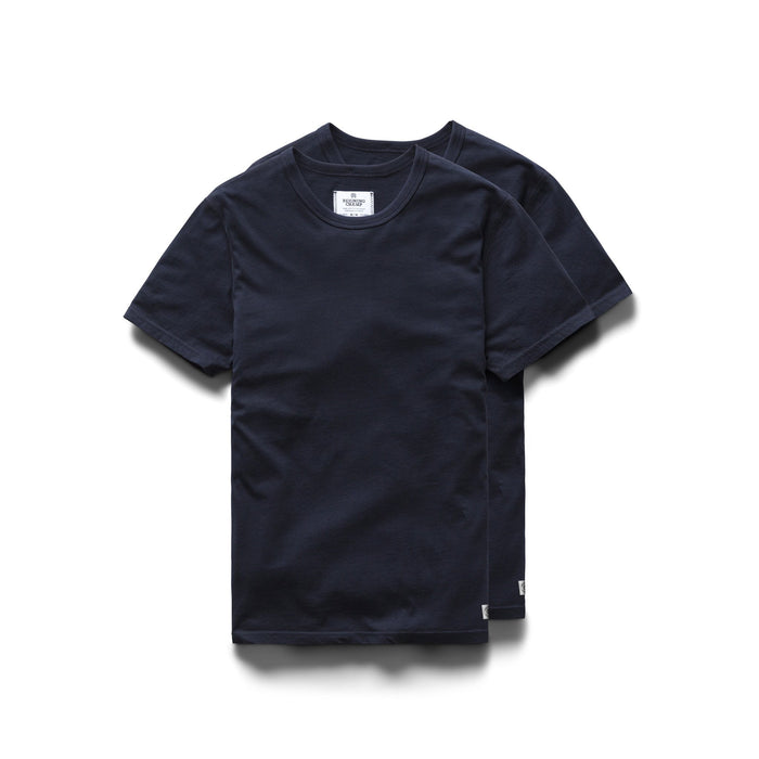 Cotton Jersey 2 Pack Tee - Navy