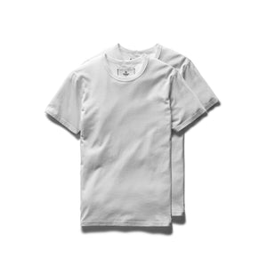 Cotton Jersey S/S - 2 Pack - White