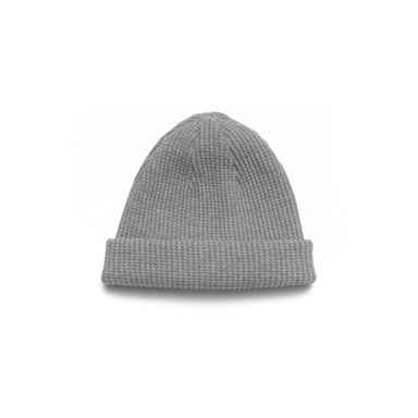 Thermal Knit Cap Bulky Waffle Grey Melange