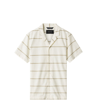 Oxford Striped Deck Shirt - Moss Stripe