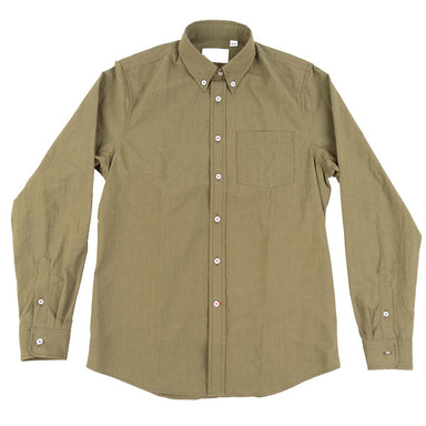 Gino L/S Poplin Cotton Dyed - Olive