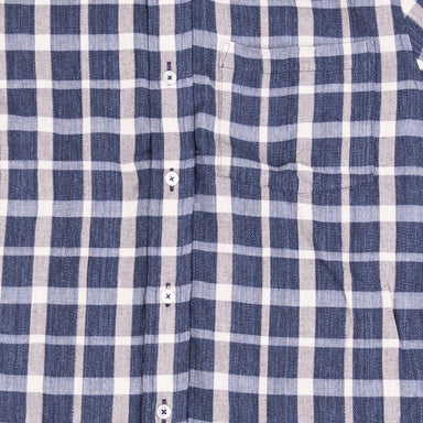 Gino L/S Dyed Dobby Plaid - Navy/Light Blue