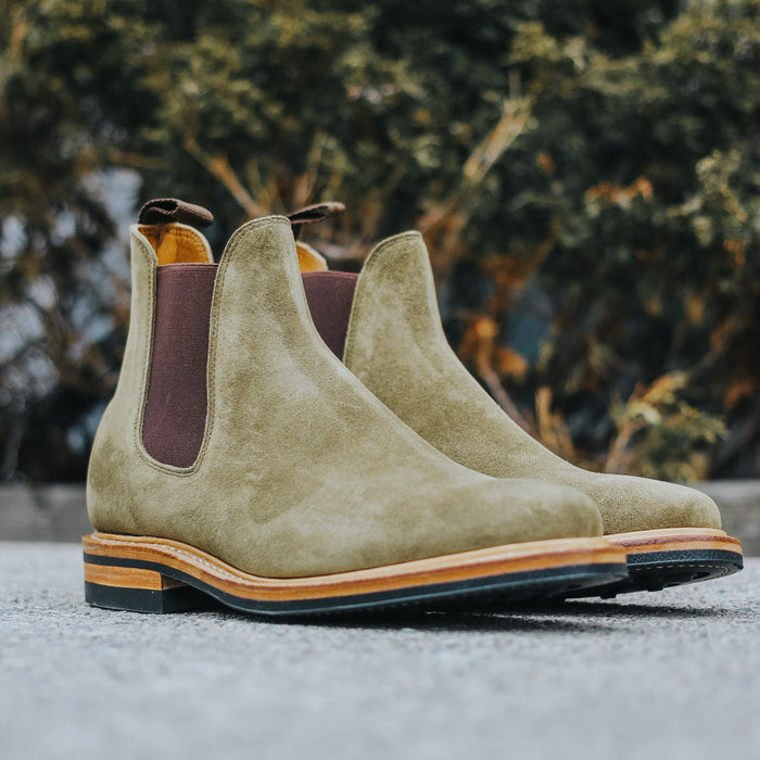 Chelsea Boot - CF Stead Bamboo Calf Suede