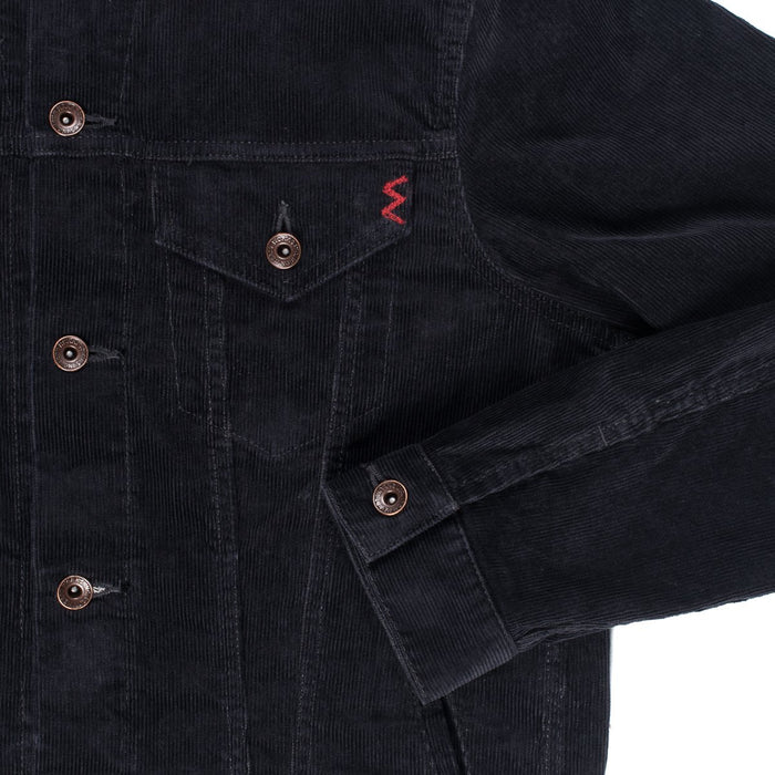 Corduroy Modified Type III Jacket - IHJ-69 - Black