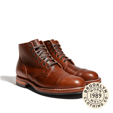 Service Boot Horween Mocha Vintage Partial Structure Toe