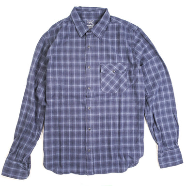 Plaid Flannel Work Shirt Blue