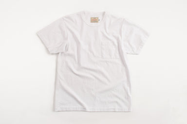 Heavy Duty Tee Single Pocket White