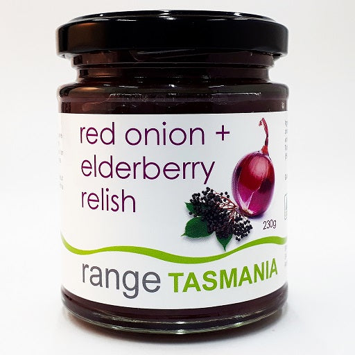 red onion + elderberry relish - 230g