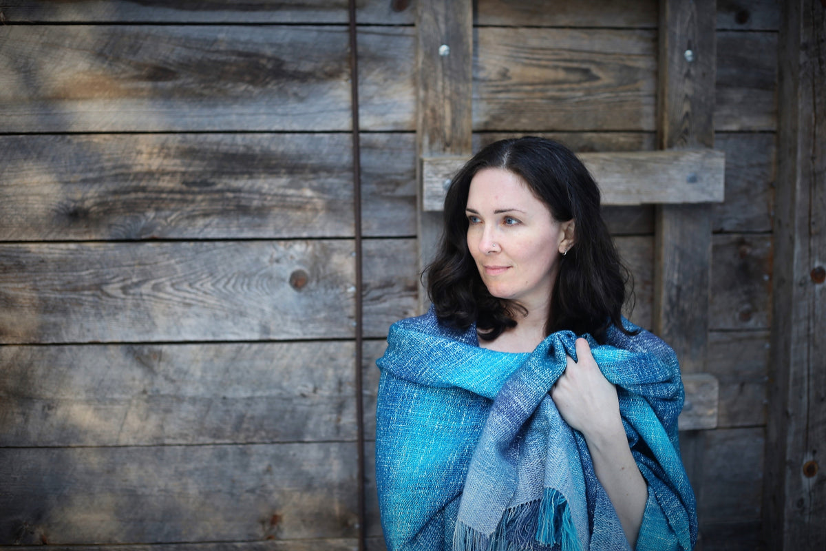 Handwoven blanket scarves and shawls, artisan hand crafted, one of a kind