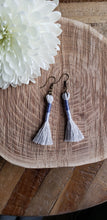 Load image into Gallery viewer, Periwinkle Cotton Tassel Earrings