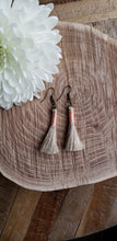 Load image into Gallery viewer, Baby Pink Linen Tassel Earrings