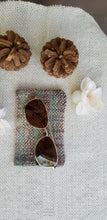 Load image into Gallery viewer, Handwoven Glasses Case // Grey Teal Natural