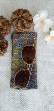Load image into Gallery viewer, Handwoven Glasses Case // Brown Blue Green Natural