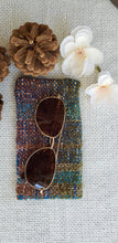 Load image into Gallery viewer, Handwoven Glasses Case // Teal Green Natural