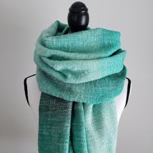 Load image into Gallery viewer, Seafoam Forest | Handwoven Blanket Scarf