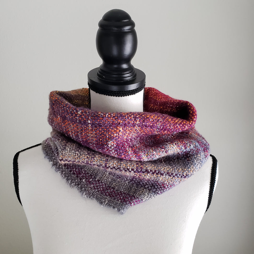 034 Half Cowl | Purple Gray