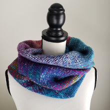 Load image into Gallery viewer, 039 Cowl | Teal Rainbow