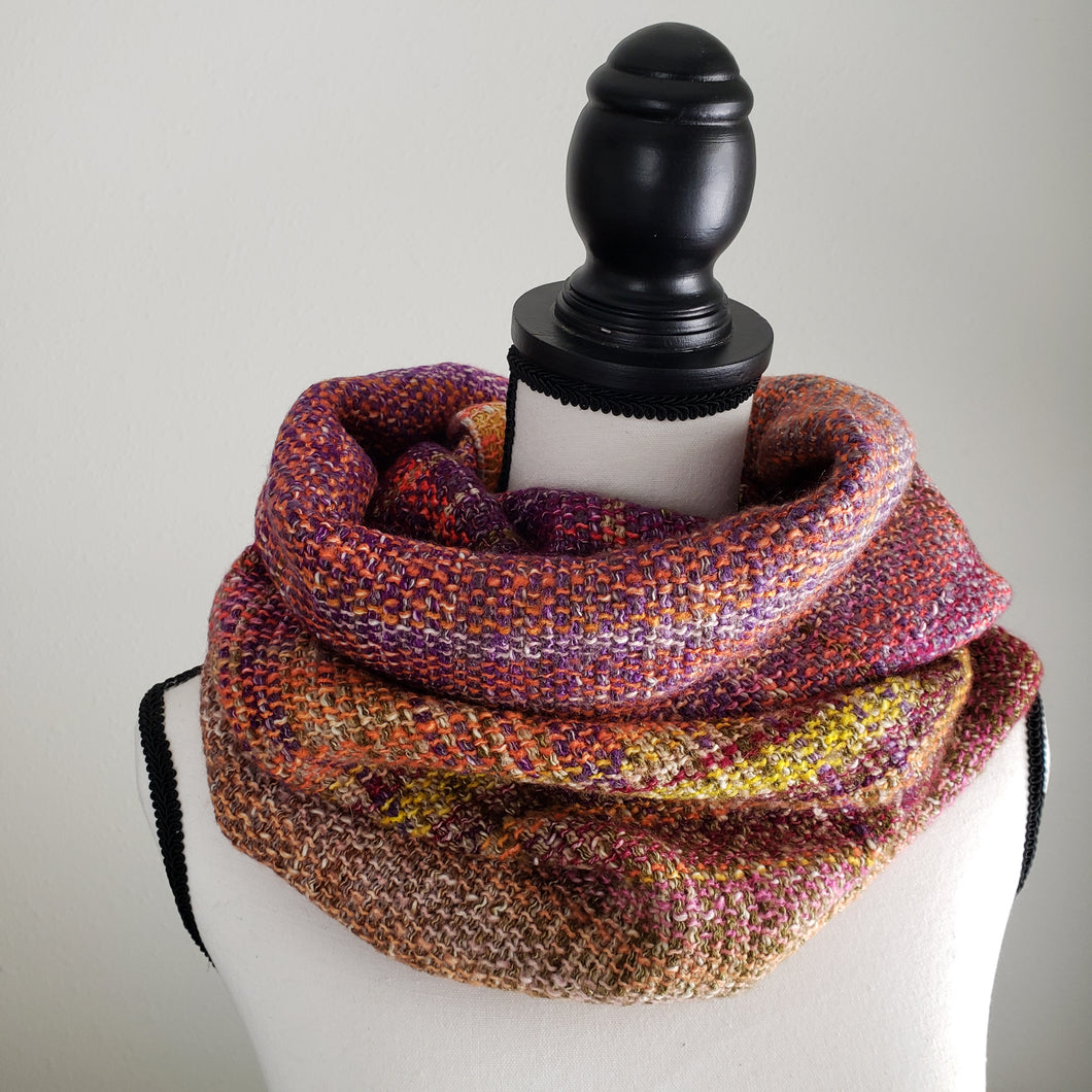 043 Cowl | Pink Yellow Earth