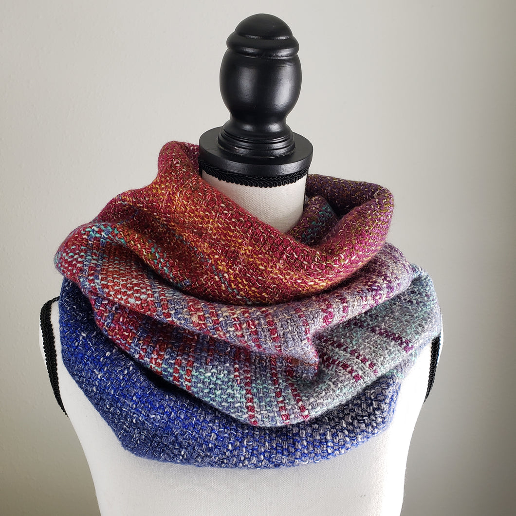 052 Cowl | Orange Blue