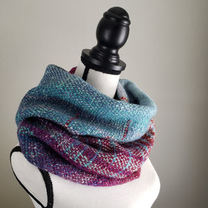 053 Cowl | Orange Teal Sunset