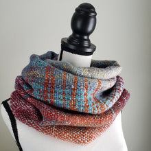 Load image into Gallery viewer, 054 Cowl | Orange Teal
