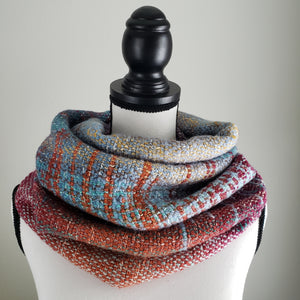 054 Cowl | Orange Teal