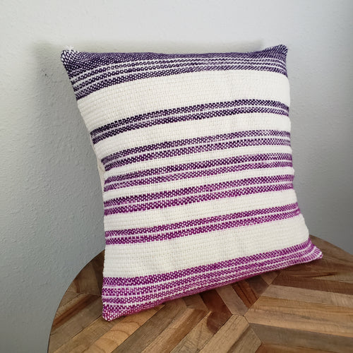Pillow | Pink Purple White | Slip Cover only, 18x18