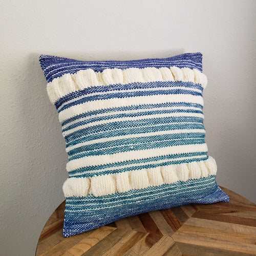 Pillow | Teal Blue White | Slip Cover only, 18x18