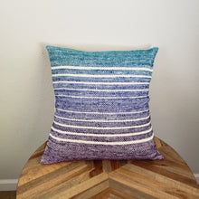 Load image into Gallery viewer, Pillow | Teal Blue Purple | Slip Cover only, 18x18